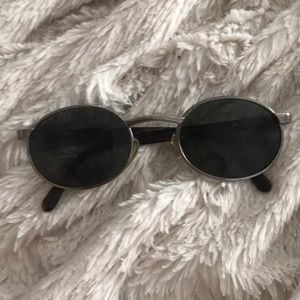 Fossil Silver and Black Sunglasses